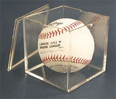baseball cube without stand with pop-off lid